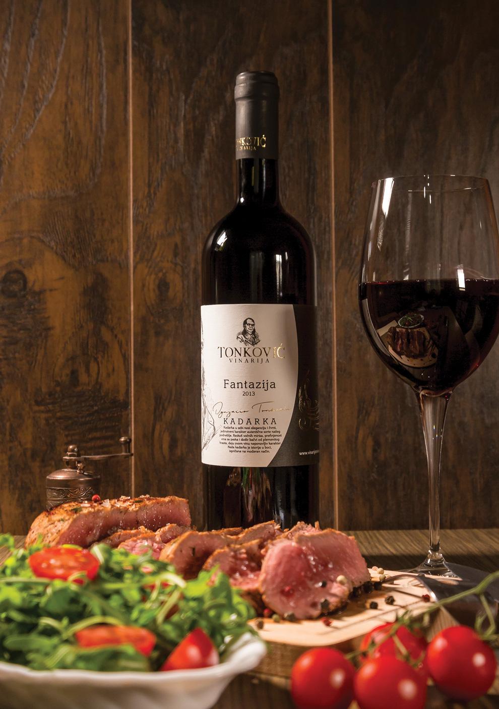 vinarija tonković crveno vino kadarka