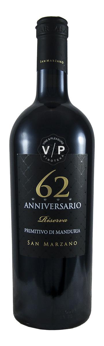 San Marzano 62 Primitivo Anniversario Riserva