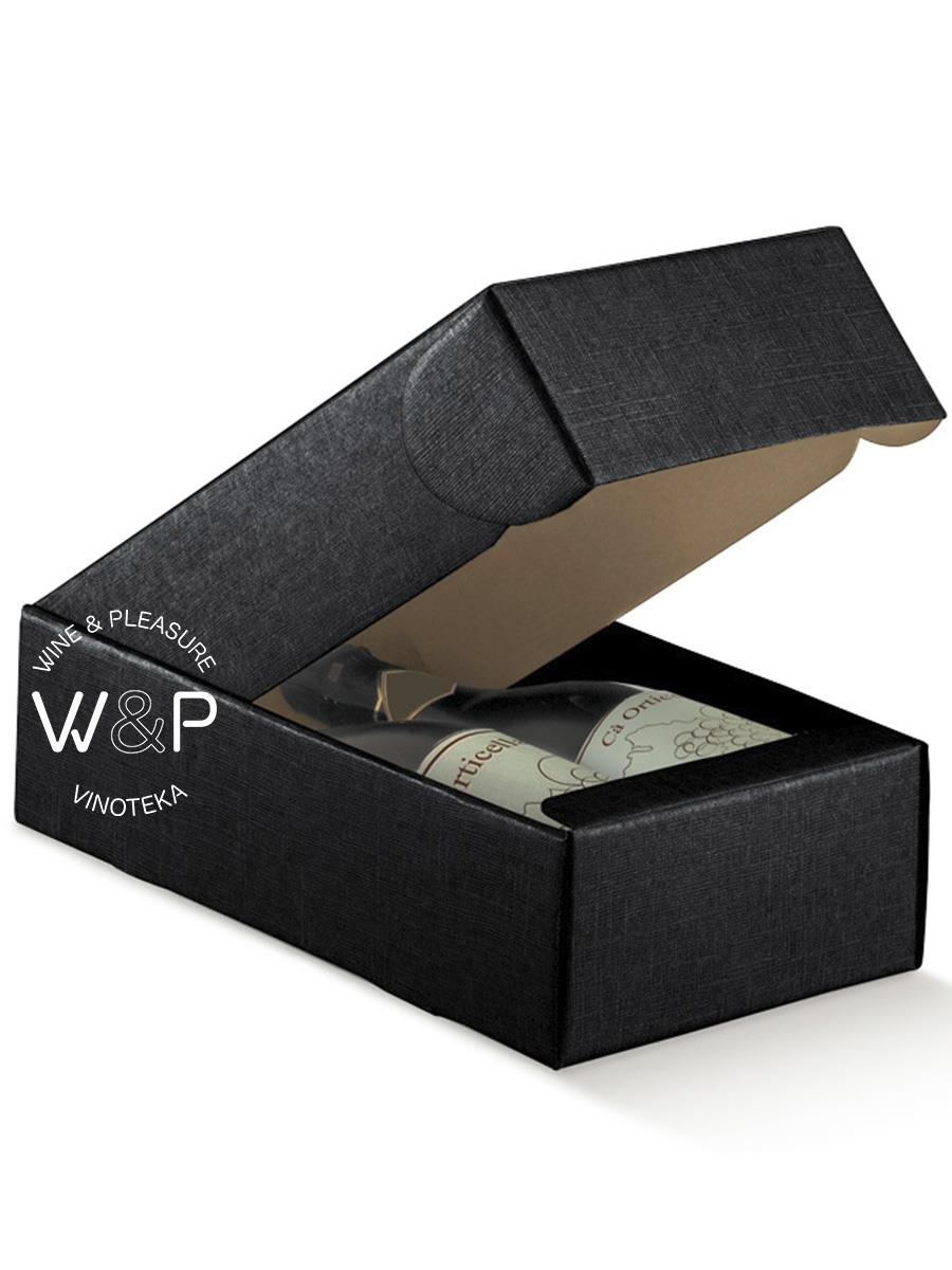 Kutija Kartonska Za 2 Boce Crna-13757