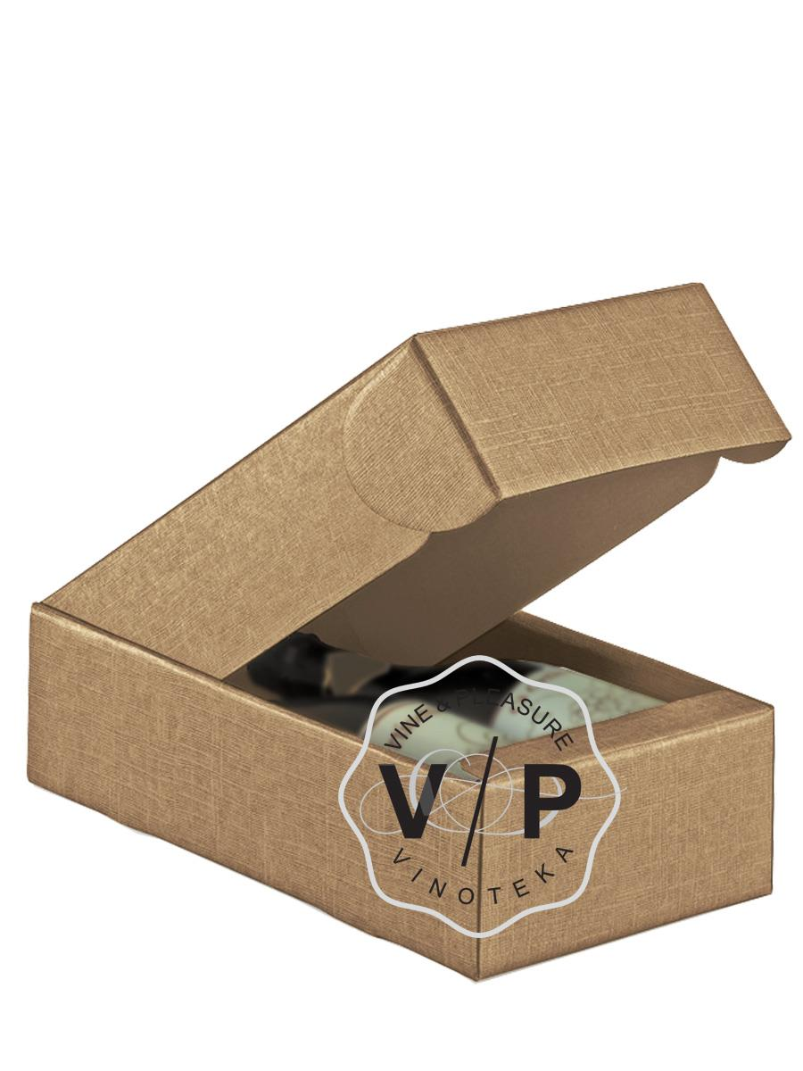 Kutija Kartonska Za 2 Boce Svetlo Braon-30581