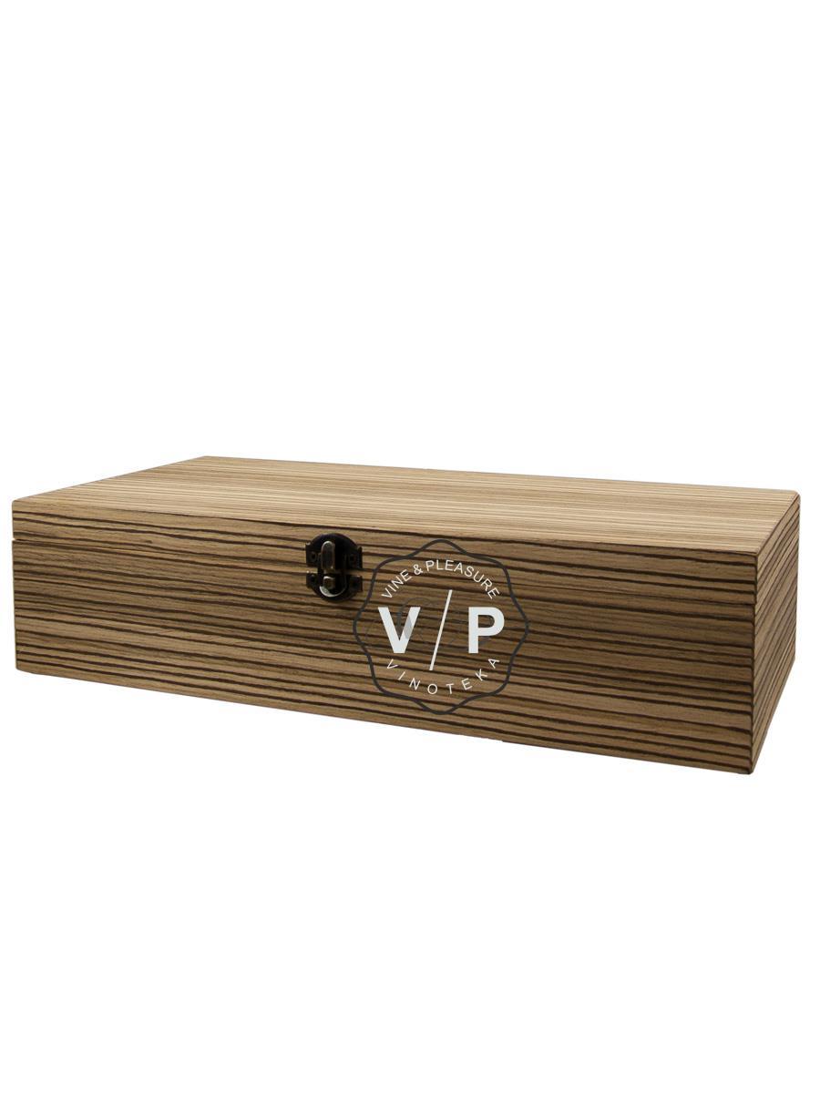 Drvena Kutija Za 2 Boce Egzoda Svetlo Braon