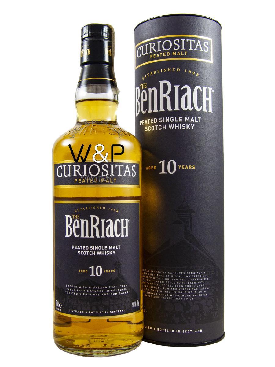 Whisky BenRiach Curiositas 10 YO 0.7L