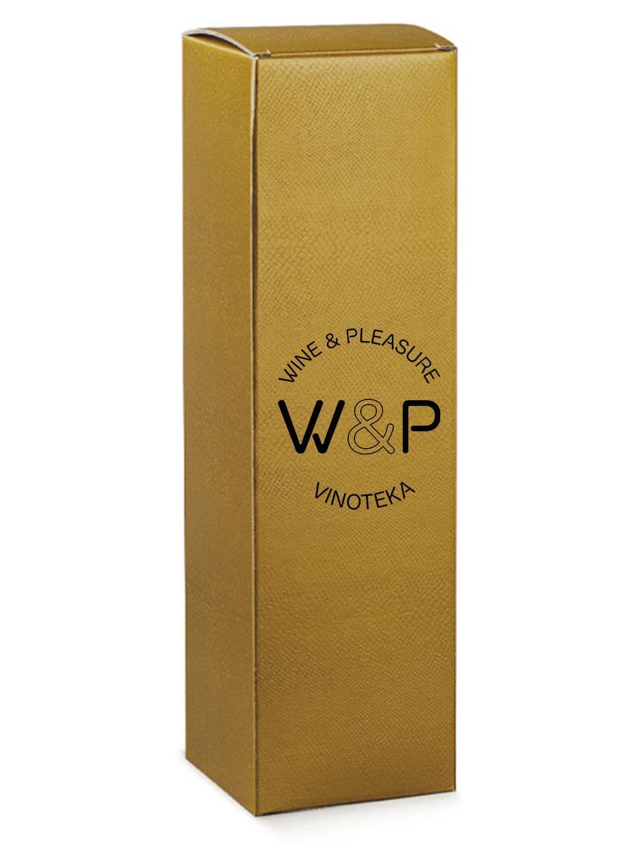 Kutija Kartonska Za 1 Bocu Zlatna Kroko