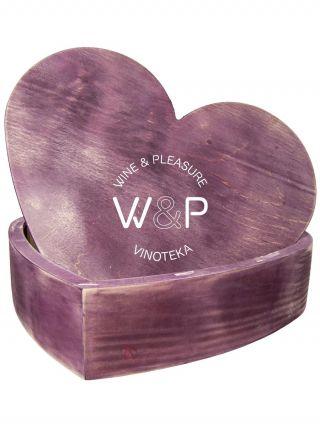 Drvena Kutija u Obliku Srca-Bordo