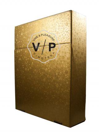 Kutija Kartonska Za 3 Boce Zlatna