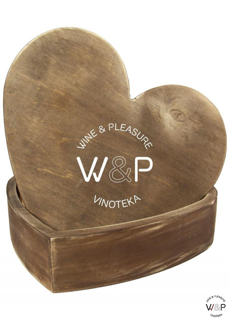 Drvena Kutija u Obliku Srca-Braon
