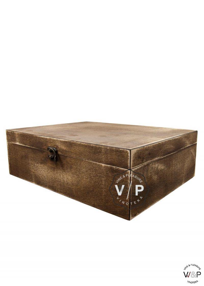 Drvena Kutija za 3 Boce Braon