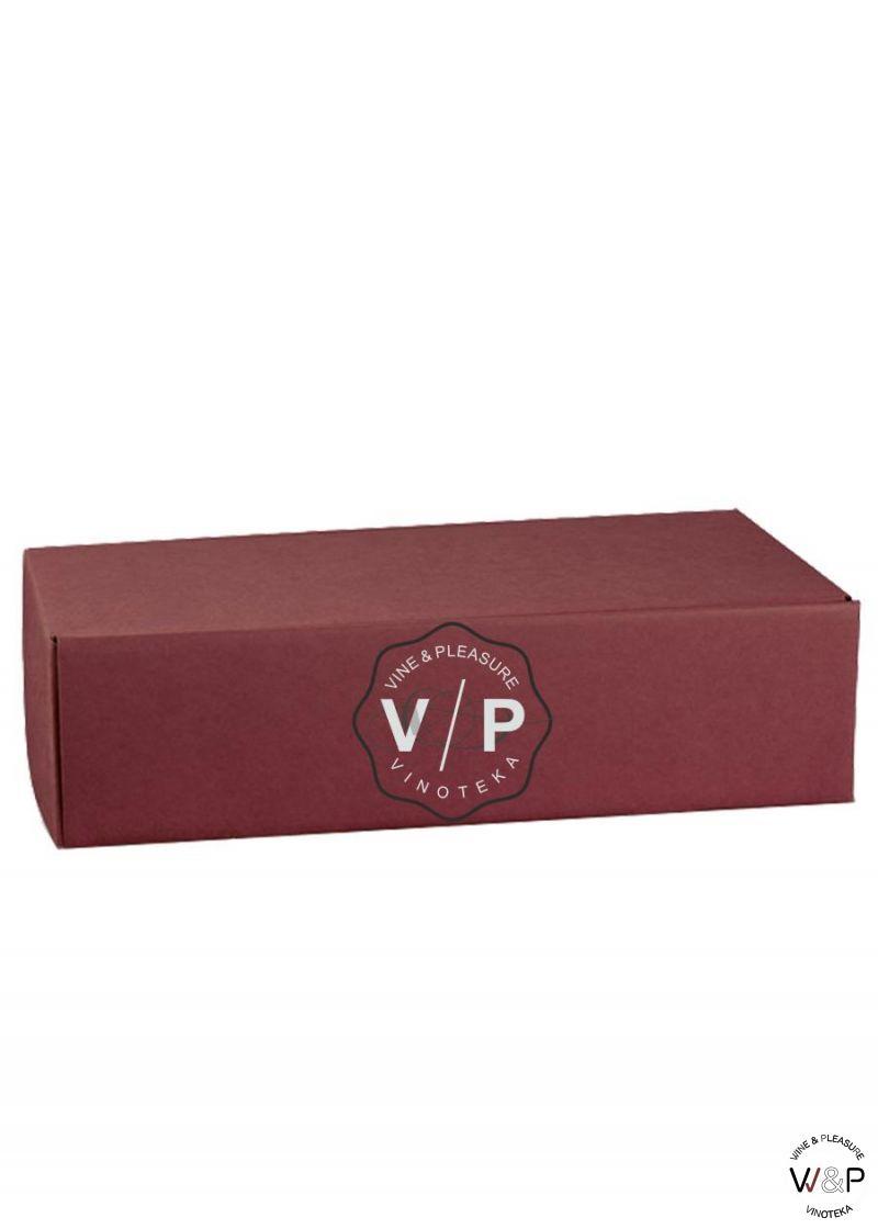 Kutija Kartonska Za 2 Boce Bordo-4162