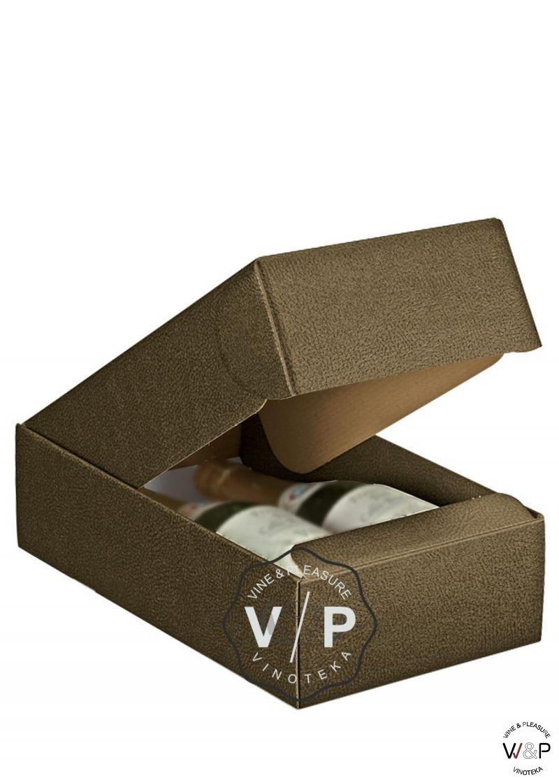 Kutija Kartonska Za 2 Boce Tamno Braon-33166