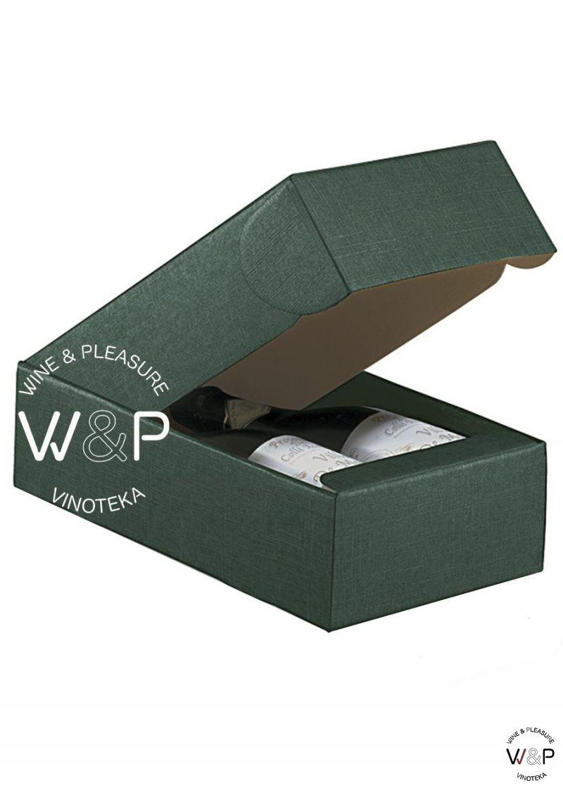 Kutija Kartonska Za 2 Boce Zelena-30509