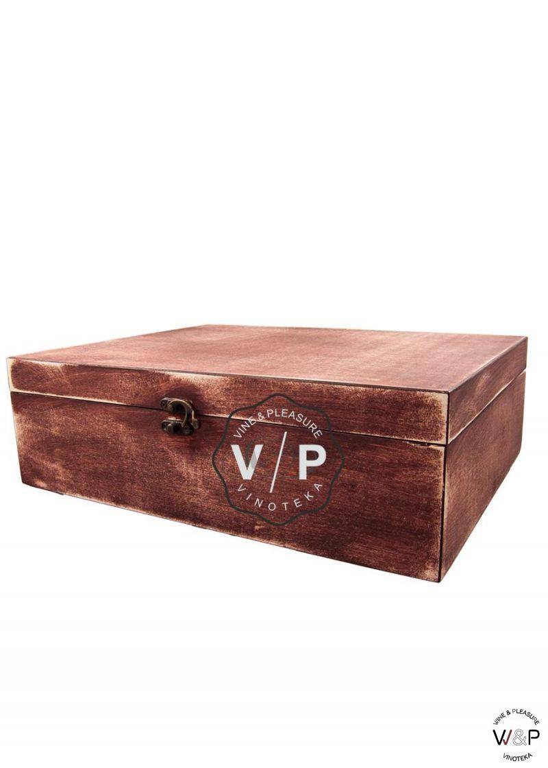 Drvena Kutija Za 3 Boce Bordo
