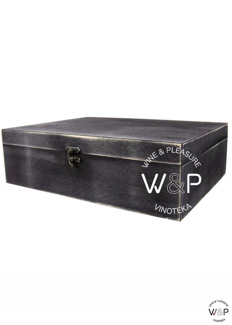 Drvena Kutija Za 3 Boce -Crna