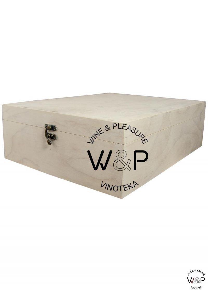 Drvena Kutija za 3 Boce - Bela