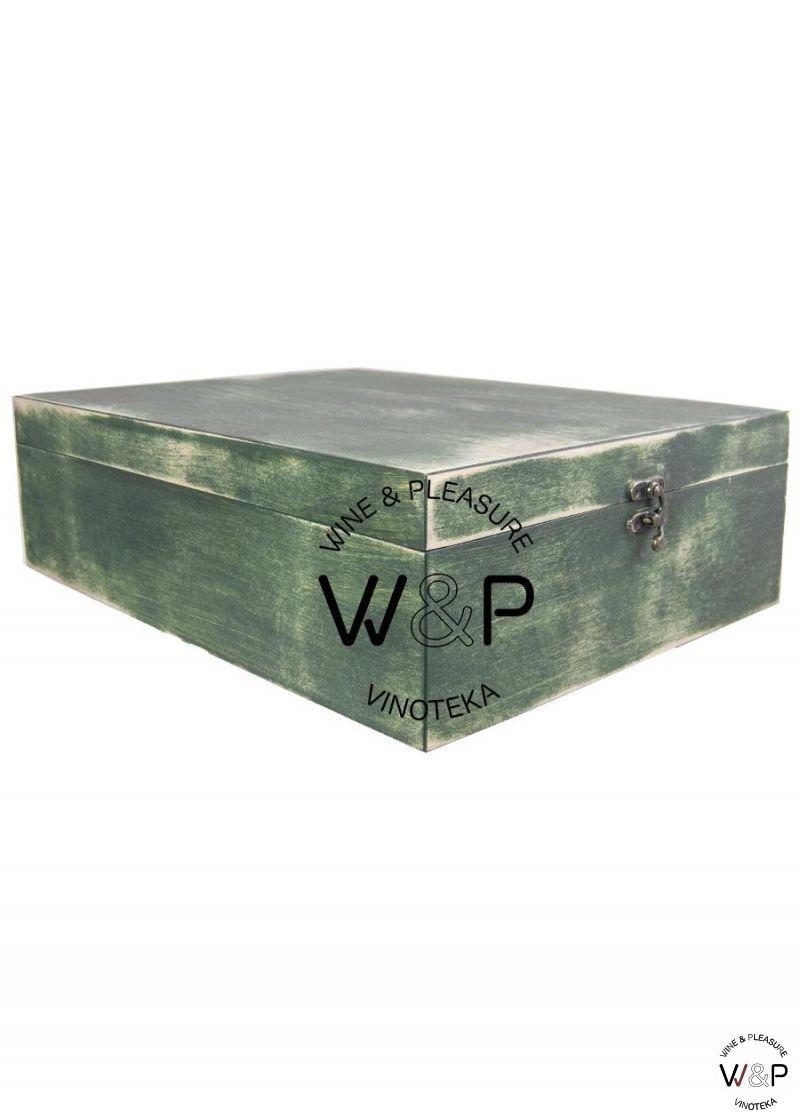 Drvena Kutija Za 3 Boce -Zelena