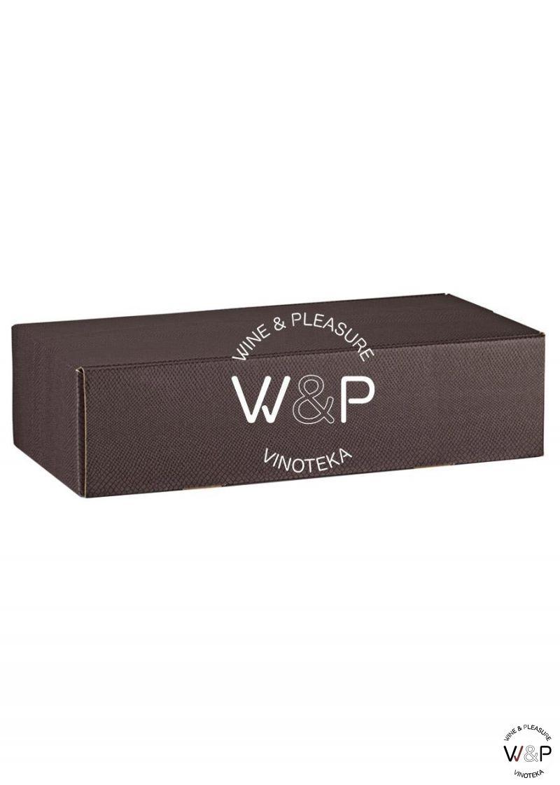 Kutija Kartonska Za 2 Boce Braon Kroko-38281