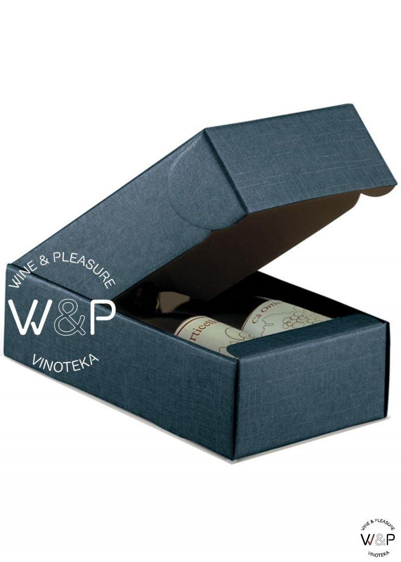 Kutija Kartonska Za 2 Boce Teget - 16280