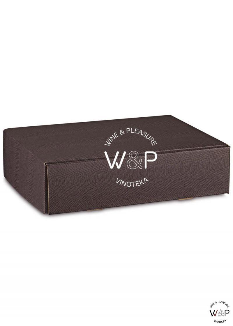Kutija Kartonska Za 3 Boce Braon Kroko-38282