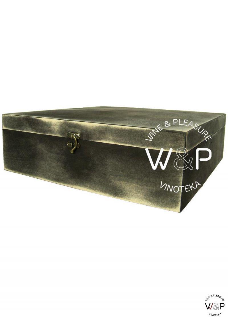 Drvena Kutija Za 4 Boce-Crna
