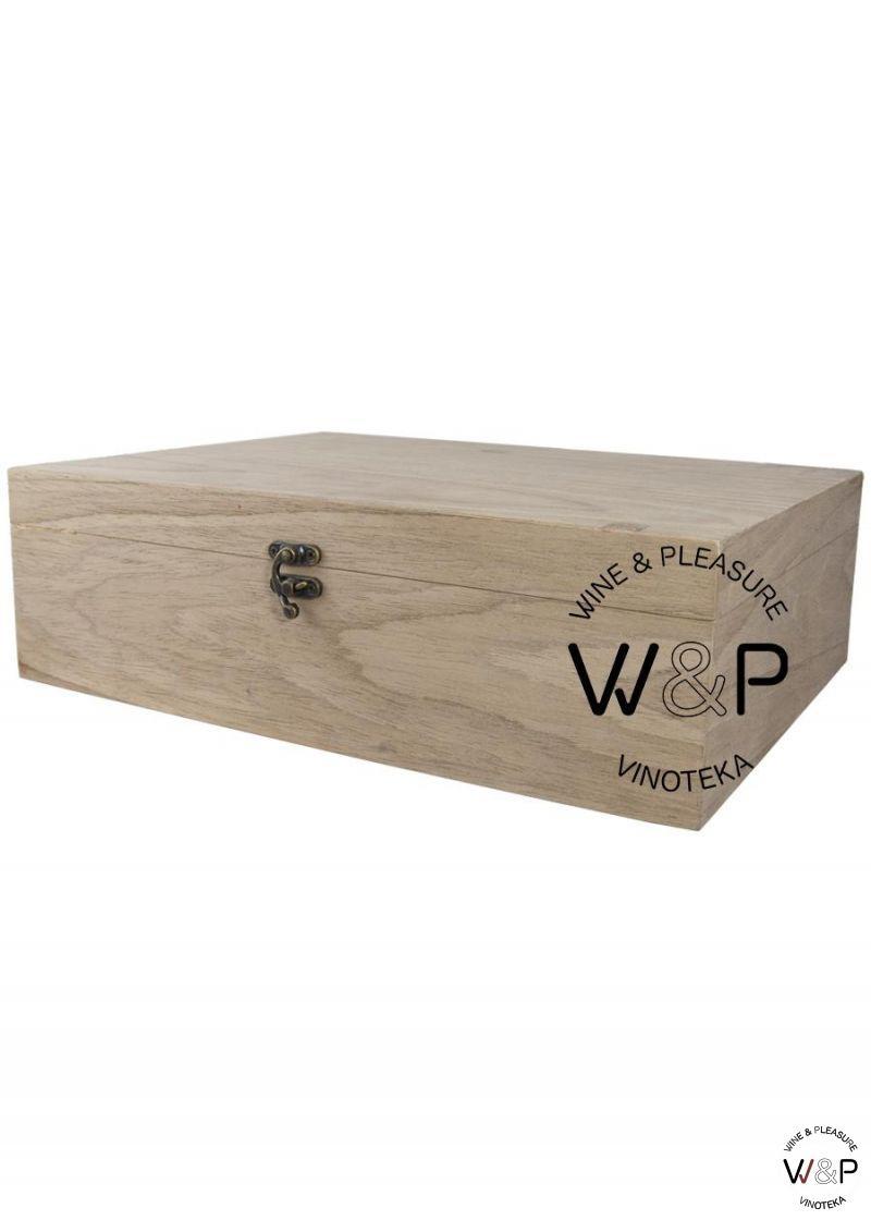 Drvena Kutija Za 3 Boce Orah