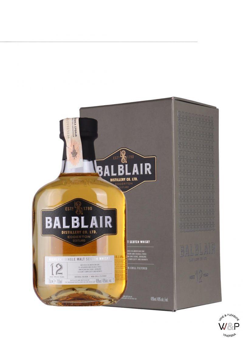 Whisky Balblair 12YO 0,7l