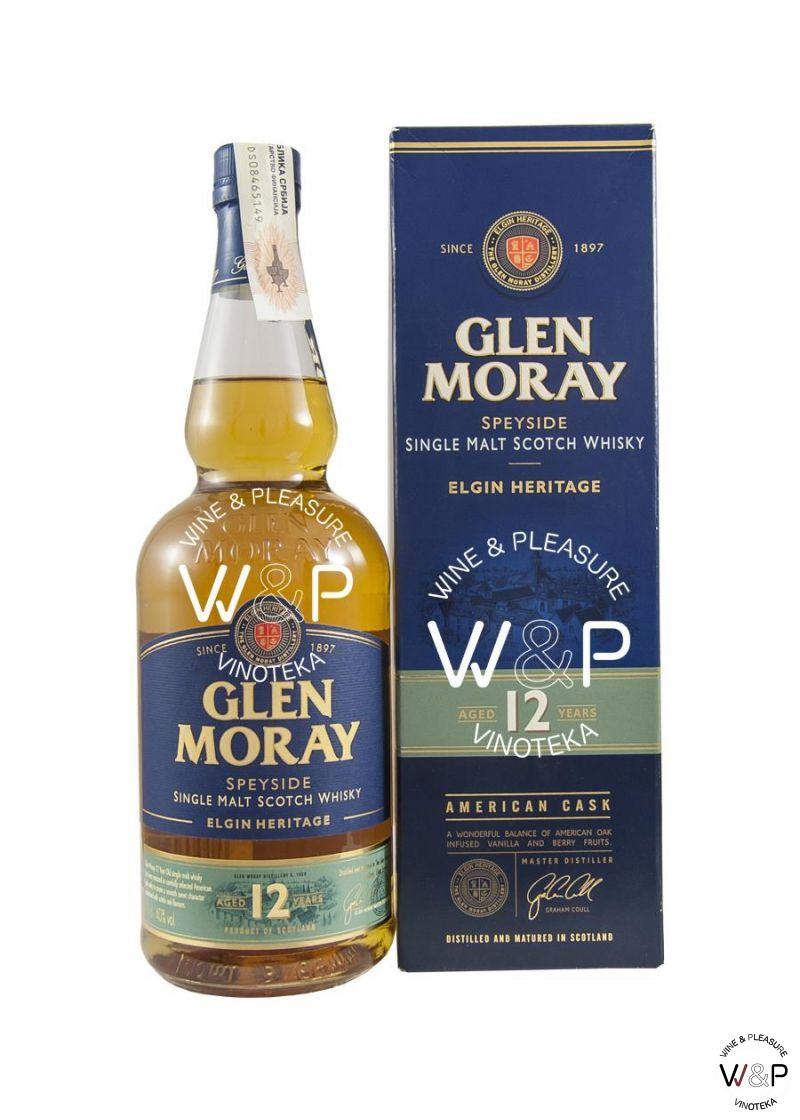 Whisky Glen Moray 12 YO 0,7l