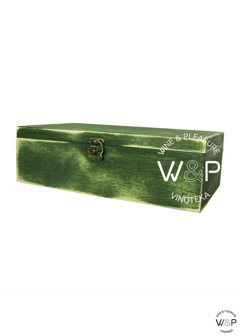 Drvena Kutija Za 2 Boce Zelena