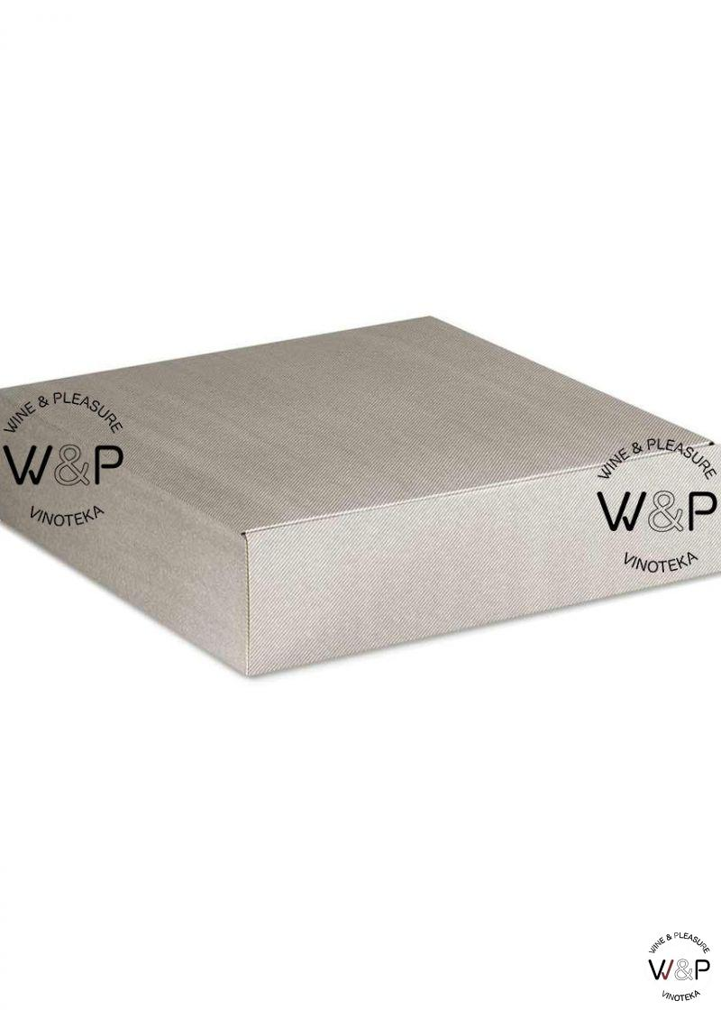 Kutija Kartonska Za 3 Boce Svetlo Siva-34391