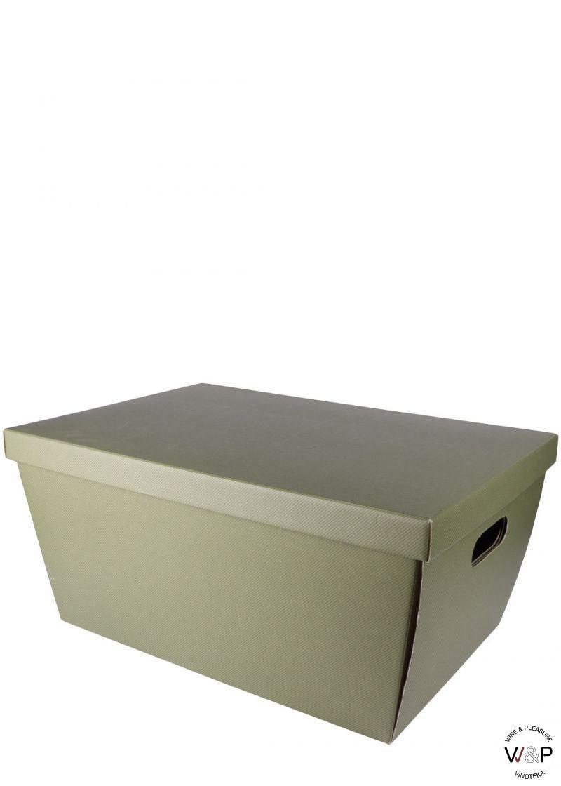 Kutija Kartonska Zelena Sa Poklopcem Veća-34503