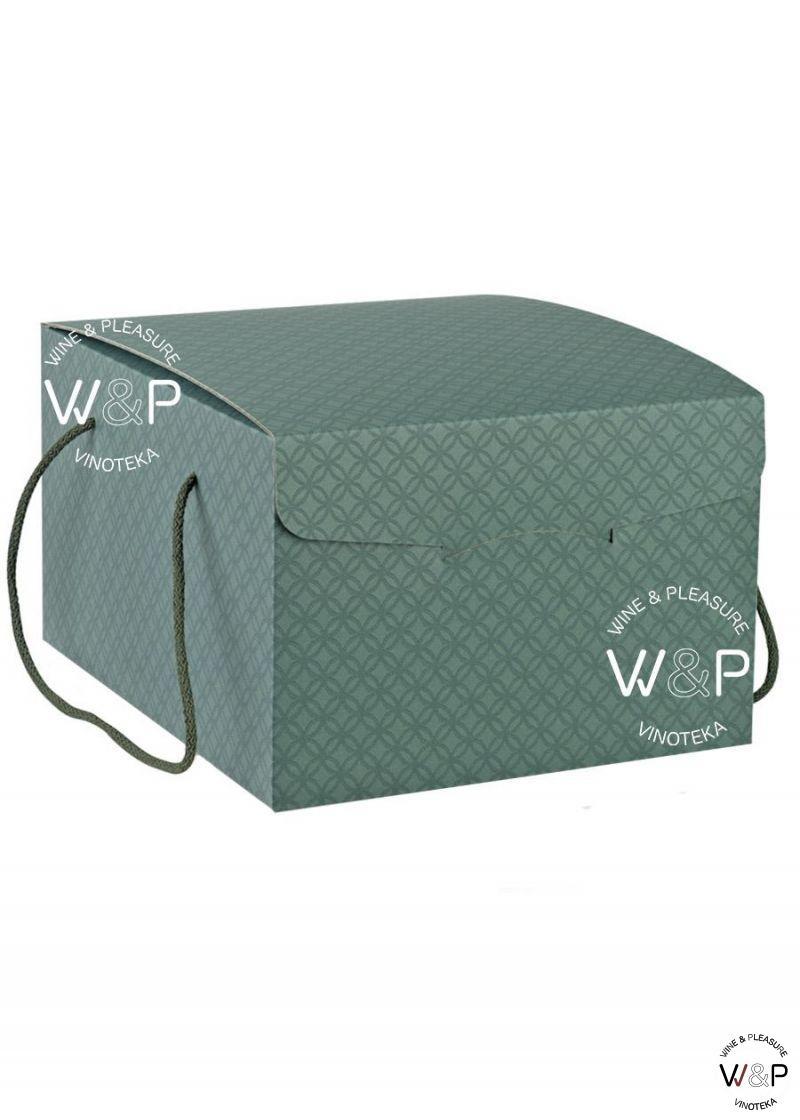 Kutija Kartonska sa kanapom zelena romboidi-36783