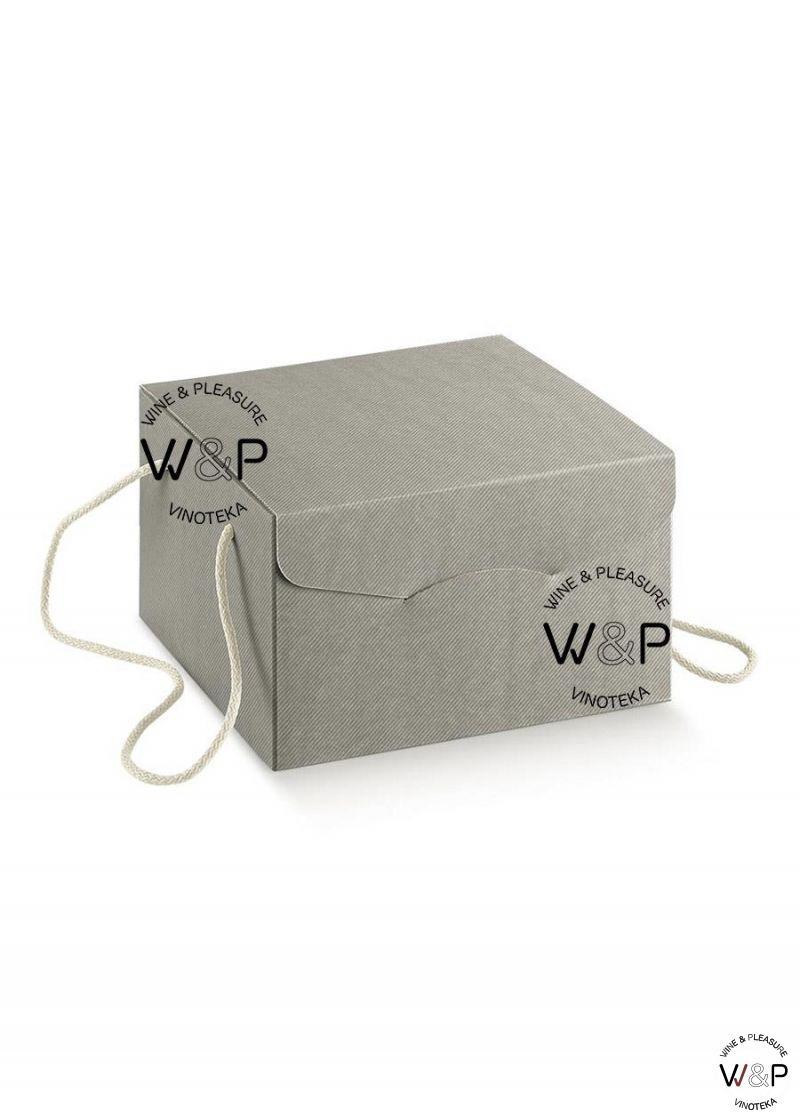 Kutija kartonska sa kanapom svetlo siva-34406