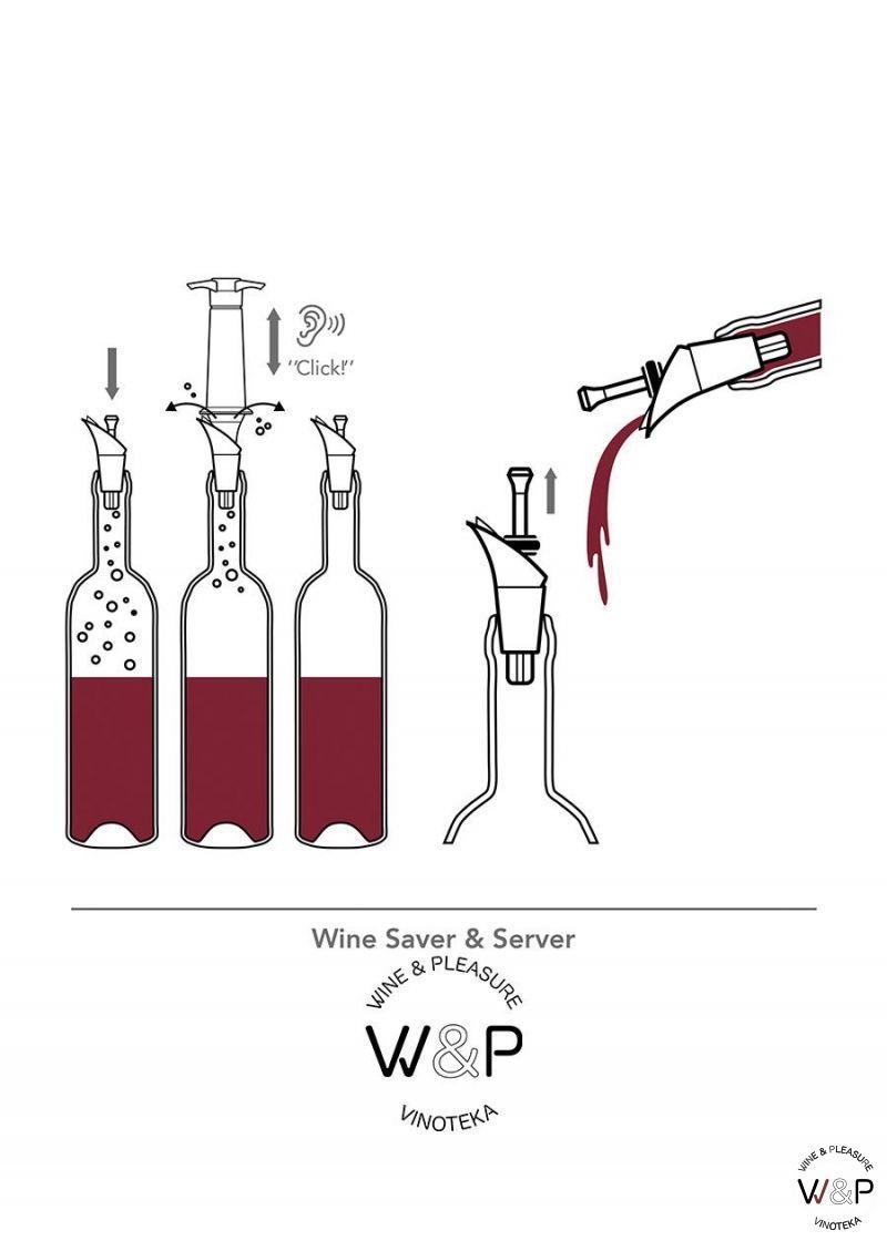 Vacuvin Wine saver&server crni 06824606