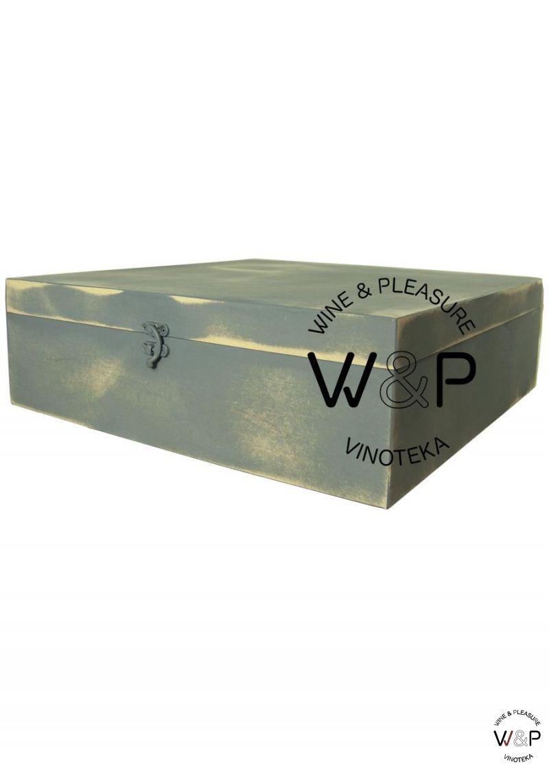 Drvena Kutija za 3 Boce Siva