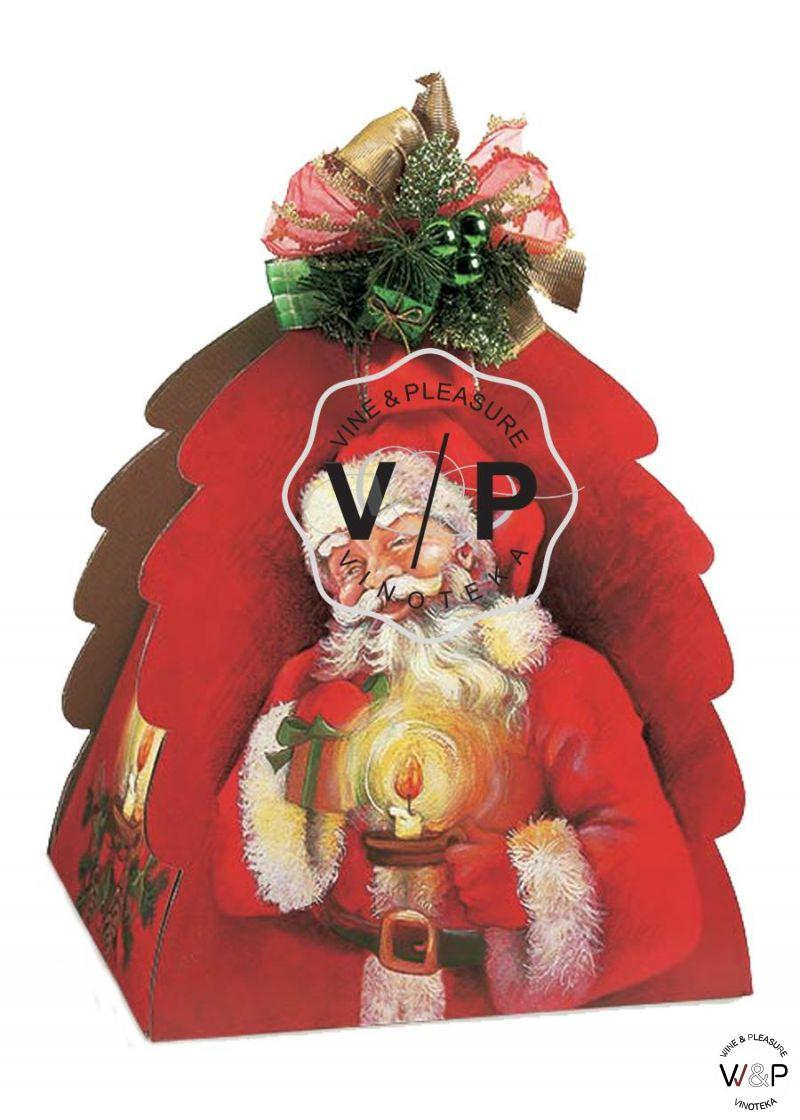 Kutija Jelka Sa Likom Deda Mraza