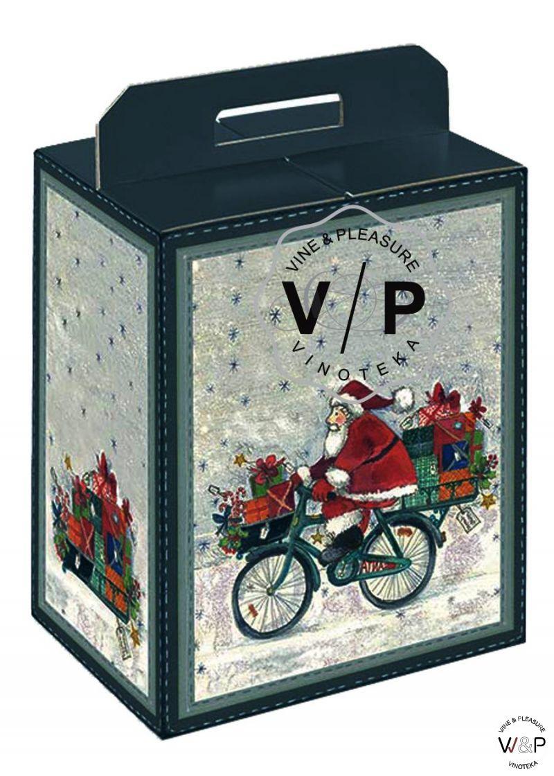 Kutija Deda Mraz Plava Sa Ručkom